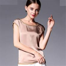 Buy Summer women blouses 2017 new casual chiffon silk blouse slim sleeveless O-neck blusa feminina tops shirts solid 6 colors for $10.04 in AliExpress store