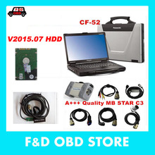 mb star c3 with CF52 with HDD software support HHT diagnostic-tool For Benz Panasonic Toughbook CF-52 2g laptop with latest HDD