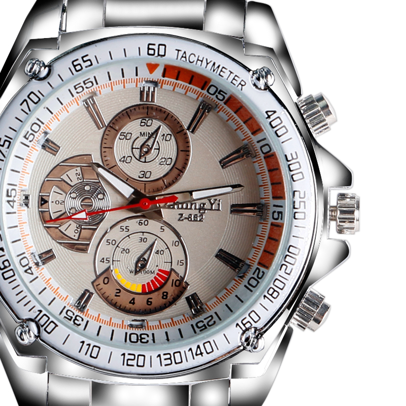 Cool Fashion Men Women Silver Full Steel Design Quartz Wrist Watch Deco Small Dial Aviator Sports Analog Wristwatch Gift  <br><br>Aliexpress