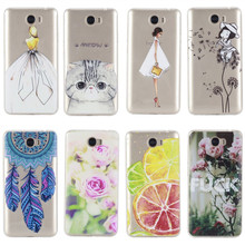 For Huawei Y5 II Case Cover Silicon Fashion Girl Cat Rose Lemon Butterfly Phone Bag Coque Capinha For Huawei Y5 ll 2 Y5II Etui