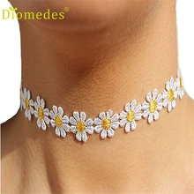Necklaces Diomedes Gussy Life wholesale Women Delicate Daisy Flower Choker Chain Charm Necklace Bohemia Jewelry Dec623