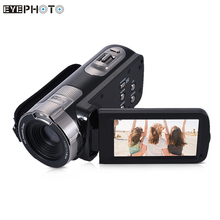 HDV-302P Digital Video Camera 3.0 Inch LCD Screen Full HD 1080P Camera 24MP 16X Digital Zoom Anti-shake DV Portable Camcorder