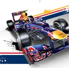 BBurago 1:32 F1 - Infiniti Racing Team RB10 2014 #1 Vettel & #3 RIC-ar-DO die-cast model car Free Shipping
