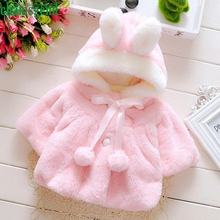CHAMSGEND Modern Baby Girl's Coat Hooded Infant Fur Winter Warm Coat Cloak Jacket Thick Warm Clothes Drop Shipping Feb16