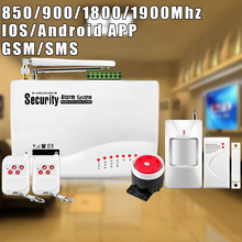 Etiger Wireless GSM SMS Alarm System For Home With Door Sensor Alarm Systems Security Dual Antenna For House Anti-theft