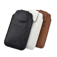 PU Leather Sleeve Pouch Waist Holster Cover For Leagoo M5 Plus Case Universal Bags With Card Pocket Phone Cases Fundas