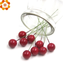 Wholesale!100PCS Christams Plastic Artificial Red Berry  For Wedding Decorations Christams Home Party Decoration Supplies