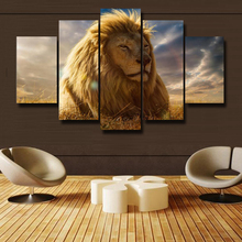 Oil Painting Print Theme Giant Lion Poster Picture Art Wall Modern Canvas Print  Wall Art Paintng High Definition Free Shipping