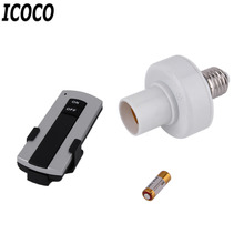 ICOCO E27 220V Screw Wireless Remote Control Light Lamp Bulb Lighting Holder Cap Socket Switch Converter Splitter Adapter Sale(China)