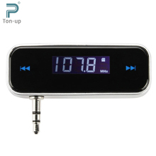 Wireless 3.5mm Jack Car FM Transmitter Digital LCD Display Full Frequency 87.5-108MHz for iPod iPhone 3G 3GS 4S MP3 MP4