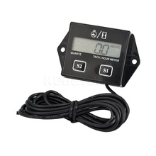 Digital Engine Tach Hour Meter Tachometer Gauge Engine RPM LCD Display For Motorcycle Motor Stroke Engine Car Motorcycle Boat(China)