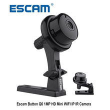 Escam Button Q6 1MP HD 720P Mini WIFI IP Camera Indoor Infrared Day/Night Vision Onvif Support Motion Detection Max 128GB Card