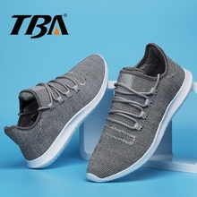 TBA Men's Sport Shoes Tenni Men Sneakers Breathable Air Mesh Athletic Running Shoes Lace Top Rubber Trail Winter Men's Sneakers