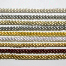 9 Colors Twisted Rope Three Strands of Cord for Cushion Pillow Bag Sofa Chair Decorative Accessories 8 mm diameter 1 bale=5 m(China)