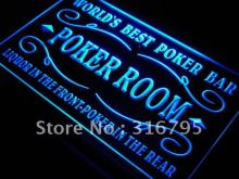 s143 Best Poker Room Liquor Bar Beer LED Neon Light Sign On/Off Switch 20+ Colors 5 Sizes(China)