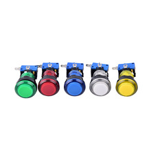 1PCS LED Light illuminated Round Arcade Game Push Button Switch 5 Colors 32mm(China)