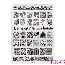 1pcs Plant Leaves Print DIY Polish Beauty Nail Art Image Stamp Stamping Plates Nail Art Templates Stencils Manicure Tools BEHK06(China)
