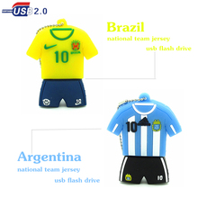 2016 new cool  Brazil football clothes usb flash drive 4gb8gb 16gb 32gb memory stick u disk pen drive real capacity fashion gift