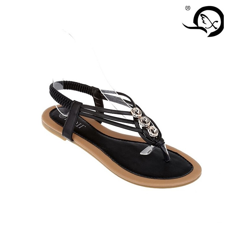 Spring show flip flops new female 2017 Ladies size flat sandals summer shoes on behalf of a foreign trade<br><br>Aliexpress