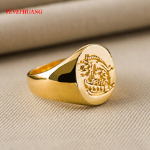 VEVEFHUANG Kingsman The Secret Service Custom Signet Rings For Men Women Alloy Sterling Gold Color Jewelry Free Engraving(China)