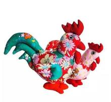 Free shipping new 21cm Unique Handmade Cloth Chickens doll toy .Best gift for children chirsmas ,new year(China)