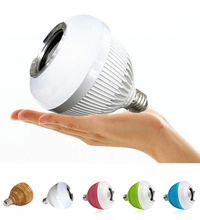 WJ-L2 6W E27 B22 RGB LED Light Bulb Bluetooth Speaker  Stereo Audio Phone APP Remote Control Changing Colorful Led Music Lamp