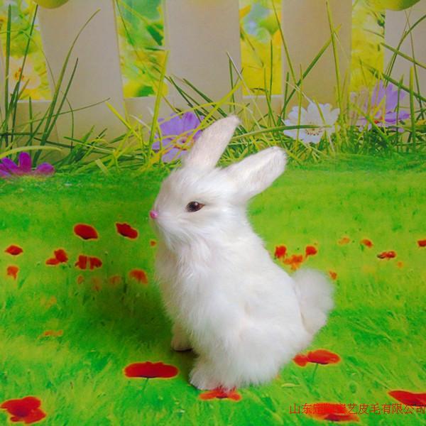 simulation white sitting rabbit model toy polyethylene &amp; furs rabbit doll gift about 16x22cm281<br><br>Aliexpress