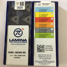 TNMG160408NN LT10, LAMINA orighinal CNC blade carbide insert LATHE TOOL 10pcs/lot,General material,TNMG160408 NN LT10(China)