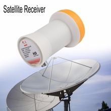 Universal Ku-Band Single LNBF 9.75/10.6KU Dual Output Full HD Digital KU LNB Satellite Receiver High Band Low Band(China)
