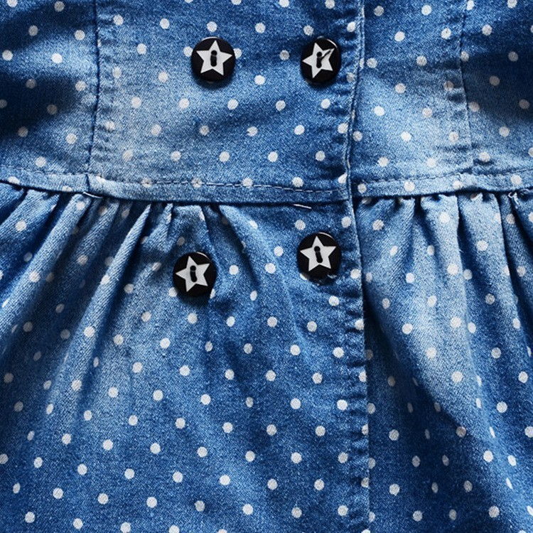 2016-spring-new-Korean-children-girls-lovely-polka-dots-denim-jacket-female-baby-cotton-jean-lapel (4)