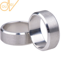1 Piece 8mm Men's Fashion 316L Stainless Steel Golden/Silver/Black Wedding Bands Titanium Steel Men's Ring