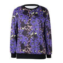 Fashion Autumn Women Hoodies Women Lepard Printed Pullovers Long Sleeve Sweatshirts Loose Women Sweatshirts