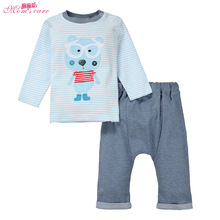 Mom's care Spring Childrens Clothing 2 PCS Baby Boys Girls Suit T shirt + Pants Infant Sets newborn infant baby set Kids Clothes