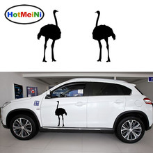 HotMeiNi 2 X Classic Desert Ostrich Amazing Running Ability Funny Car Sticker Rv Door Kayak Canoe Car Cover Vinyl Decal 9 Colors
