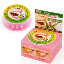 Free shipping 25g Green Herb Natural Herbal Clove Toothpaste Tooth Whitening Toothpaste Dentifrice Remove Stain(China)