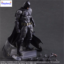 Tobyfancy Play Arts Kai Action Figures Batman Dawn of Justice PVC Toys 270mm Anime Movie Model PA Kai Heavily-armored Bat Man