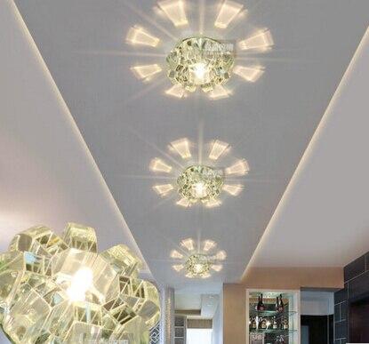 2016 corridor aisle ceiling light living room lighting crystal lamp CRYSTAL LED crystal ceiling lamps  light entrance hall ZZY9<br>