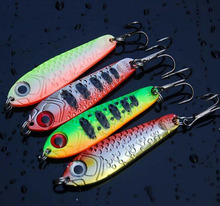 4Pcs Metal Reflective Lead Fish Fishing Lure 6.5cm 21g Swimbait Iron plate sink Bait Fishing Tackle