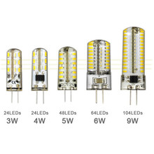 3W 4W 5W 6W 9W SMD3014 G4 LED Lamp DC 12V/ AC 220V Silicone Bulb 24/32/48/64/104 LEDs replace 10W 30W 50W Halogen Light(China)