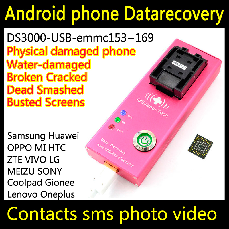 Data recovery android phone DS3000-USB3.0-emmc153+169 tool yotaphone Restore Retrieve contacts Sms Broken water-damaged Dead