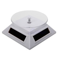 Solar Power 360 Rotating Display Stand Turn Table Plate For Phone Watch Jewelry(China)