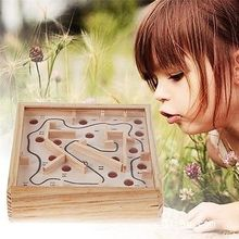 New Toddler Kids Balance Board Game Toy Wooden Labyrinth Maze Game Intelligence Devevop Toy