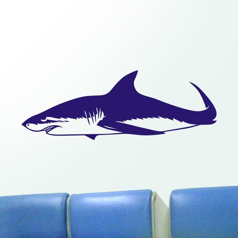 DCTAL Shark Wall Sticker Requin Decal Tiburon Posters Vinyl Wall Art Decals Pegatina Car Decal Decor Mural Animal Sticker
