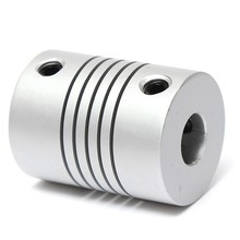 Aluminum 7x7mm Motor Jaw Shaft Coupler 7mm To 7mm Flexible Coupling OD 19x25mm 3D Printer Router Connector