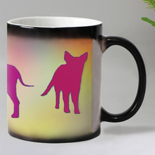 New Colorful cartoon dogs Heat Reveal Coffee mug Ceramic Color changing Magic Mugs tea cups Christmas gift 11OZ
