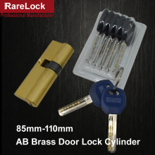Rarelock Christmas Supplies Brass Handle Door Lock Cylinder 85-110mm 7keys for Bedroom Bathroom Interior Locks Door Hardware