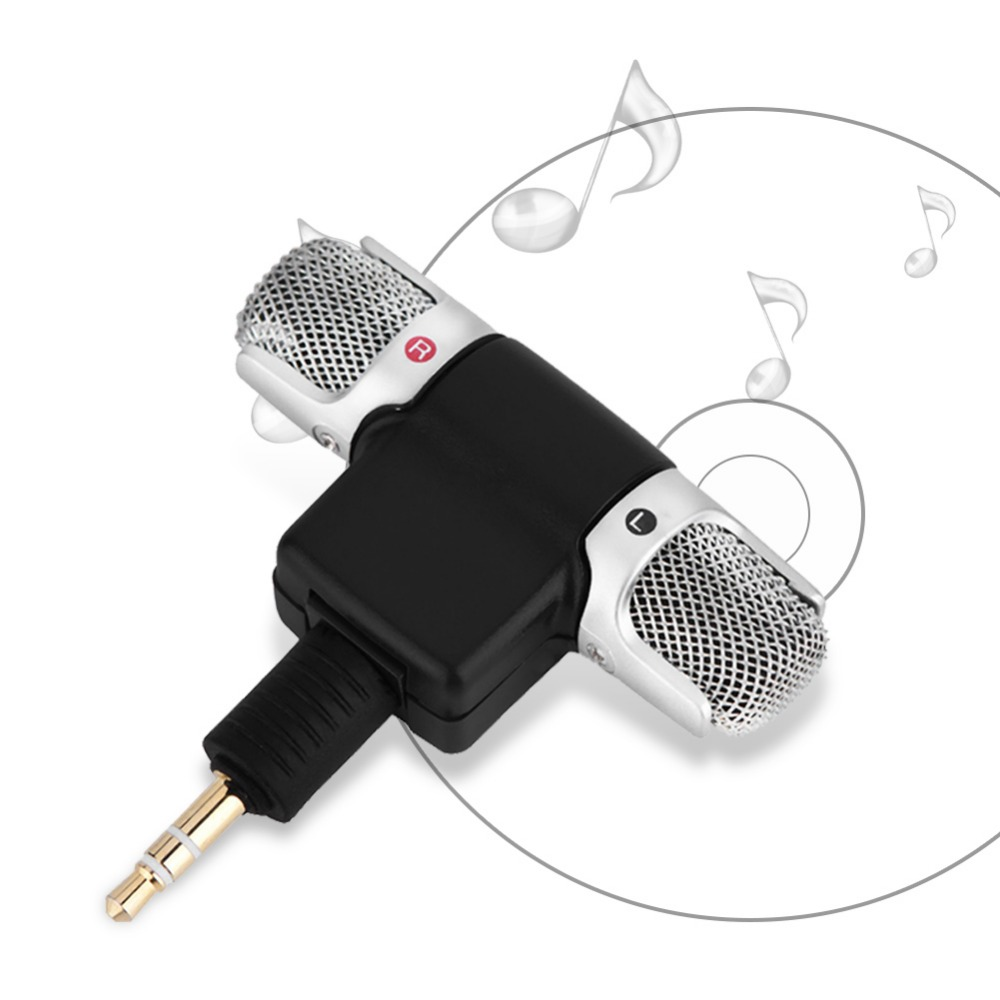 Mini Stereo Microphone Mic 3.5mm Gold-plating Plug Jack for PC Laptop MD Camera (10)