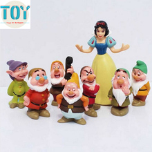 New 8 PCS Snow White and the Seven Dwarfs Classic PVC Action Figures Doll Cake Topper for Baby Girl Kids Toys Gift with Tracking(China)