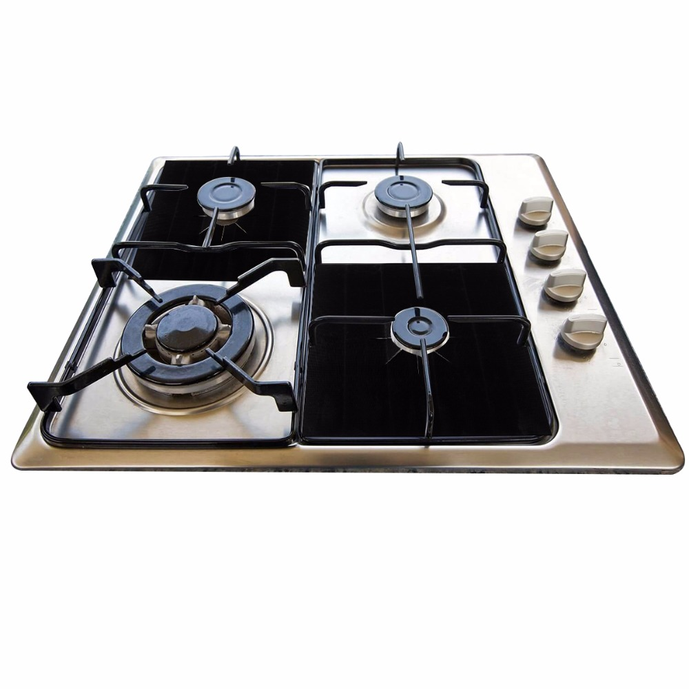 4//8X Non Stick Reusable Gas Range Stove Top Burner Protector Liner Cover Mat Pad