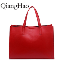 real hot selling Genuine leather purse women's Handbag Shoulder Bag Messenger women's women's fashion red top handle bag(China)